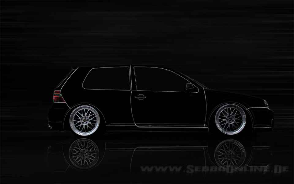VW Golf 4 BBS Tuning Wallpaper