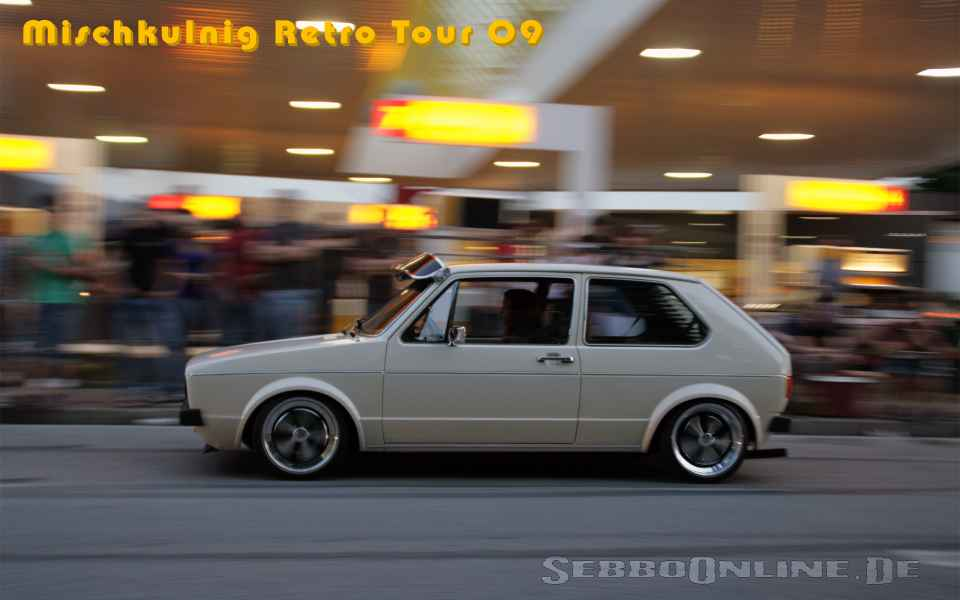 VW Golf 1 Retro Wallpaper