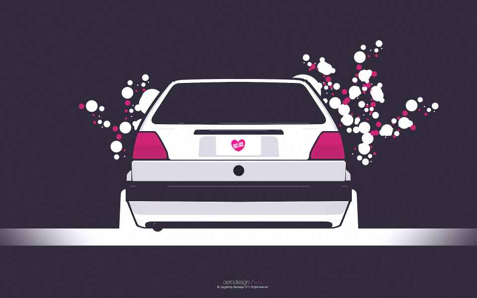 VW Golf 2 Tuning Wallpaper