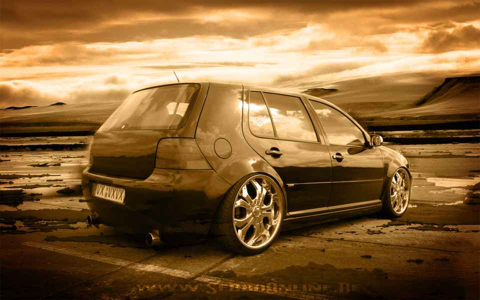 VW Golf 4 Tuning Wallpaper