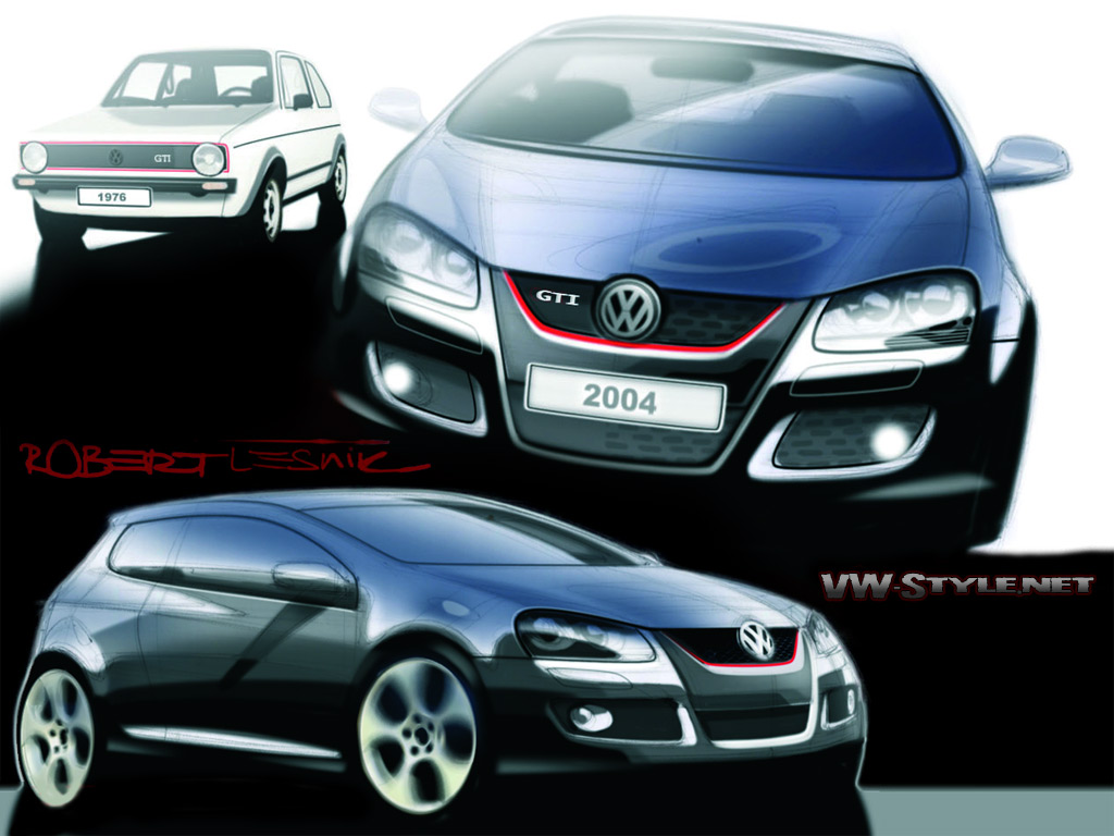 VW Golf 5 GTI Design Wallpaper